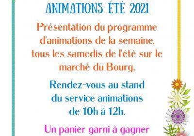 Présentations du programme d'animation hebdomadaire